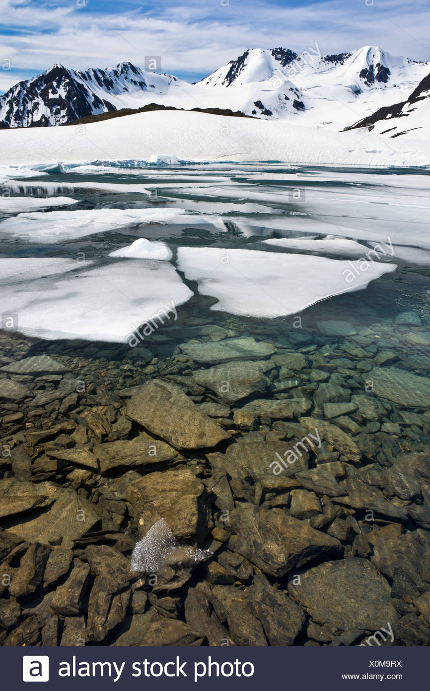 how to break ice in lake