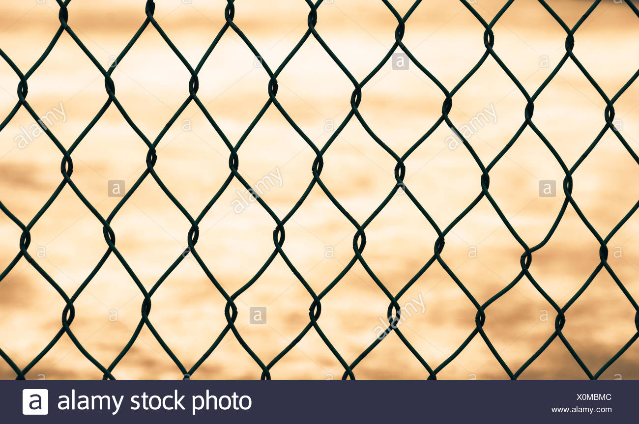 Mesh fence isolated - Stock Image