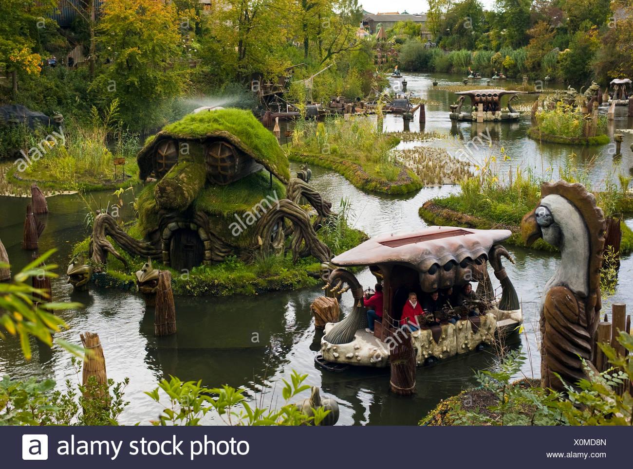Phantasialand, amusement park, theme park Fantasy, attraction WAKOBATO, Bruehl, Nordrhein-Westfalen, Germany, Europe - Stock Image