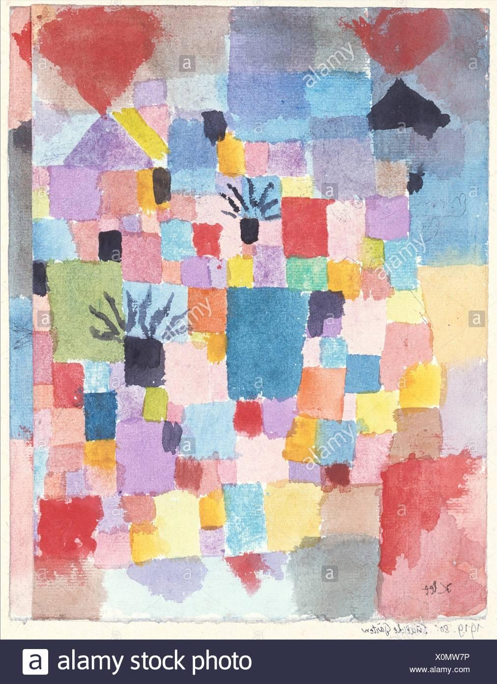 Southern Gardens. Artist: Paul Klee (German (born Switzerland), Münchenbuchsee 1879-1940 Muralto-Locarno); Date: 1919; Medium: Watercolor and ink on - Stock Image