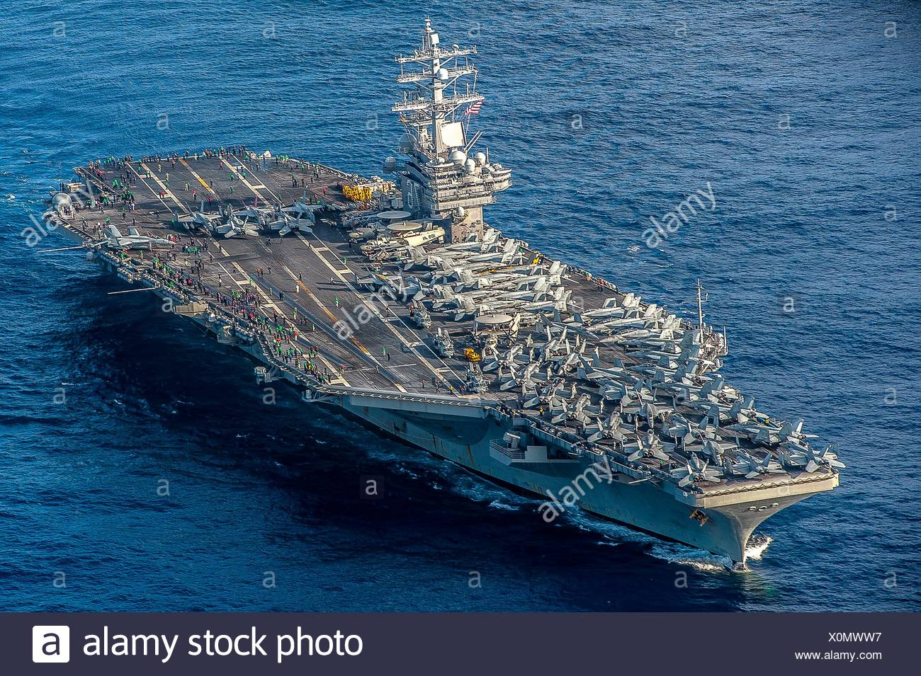 Cvn 76 stock photos cvn 76 stock images alamy - Portaerei ronald reagan ...