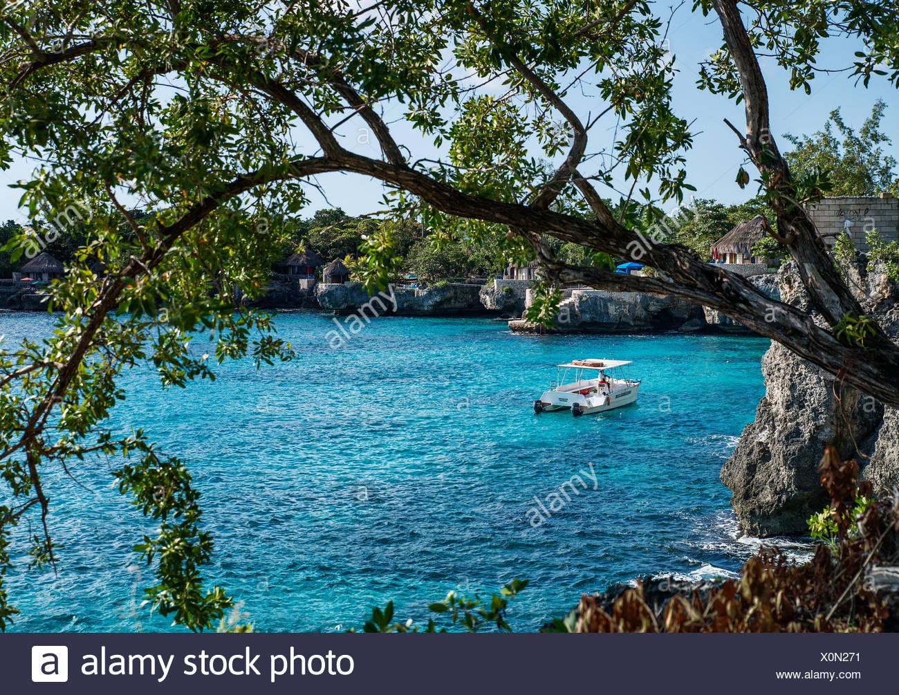 West end coastsline, Negril, Jamaica - Stock Image