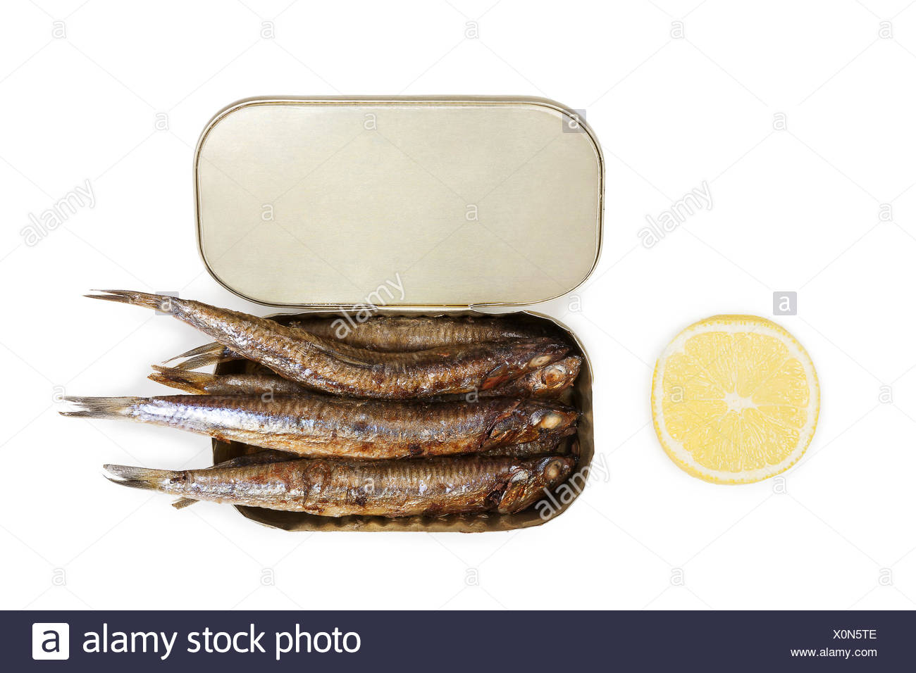 Canned sardines. - Stock Image