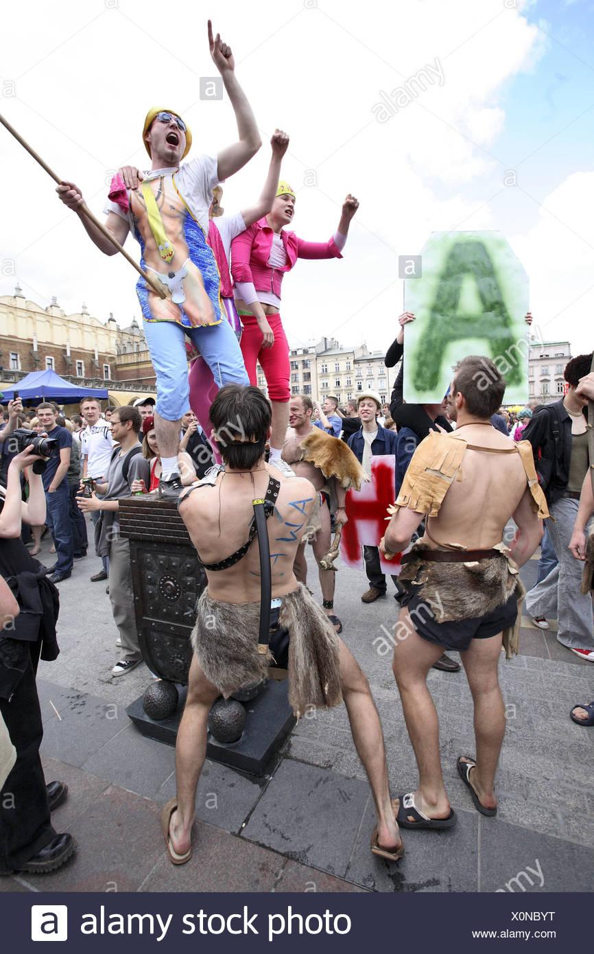 Costumed students during the Juwenalia student festival, Krakow, Poland, Europe - Stock Image