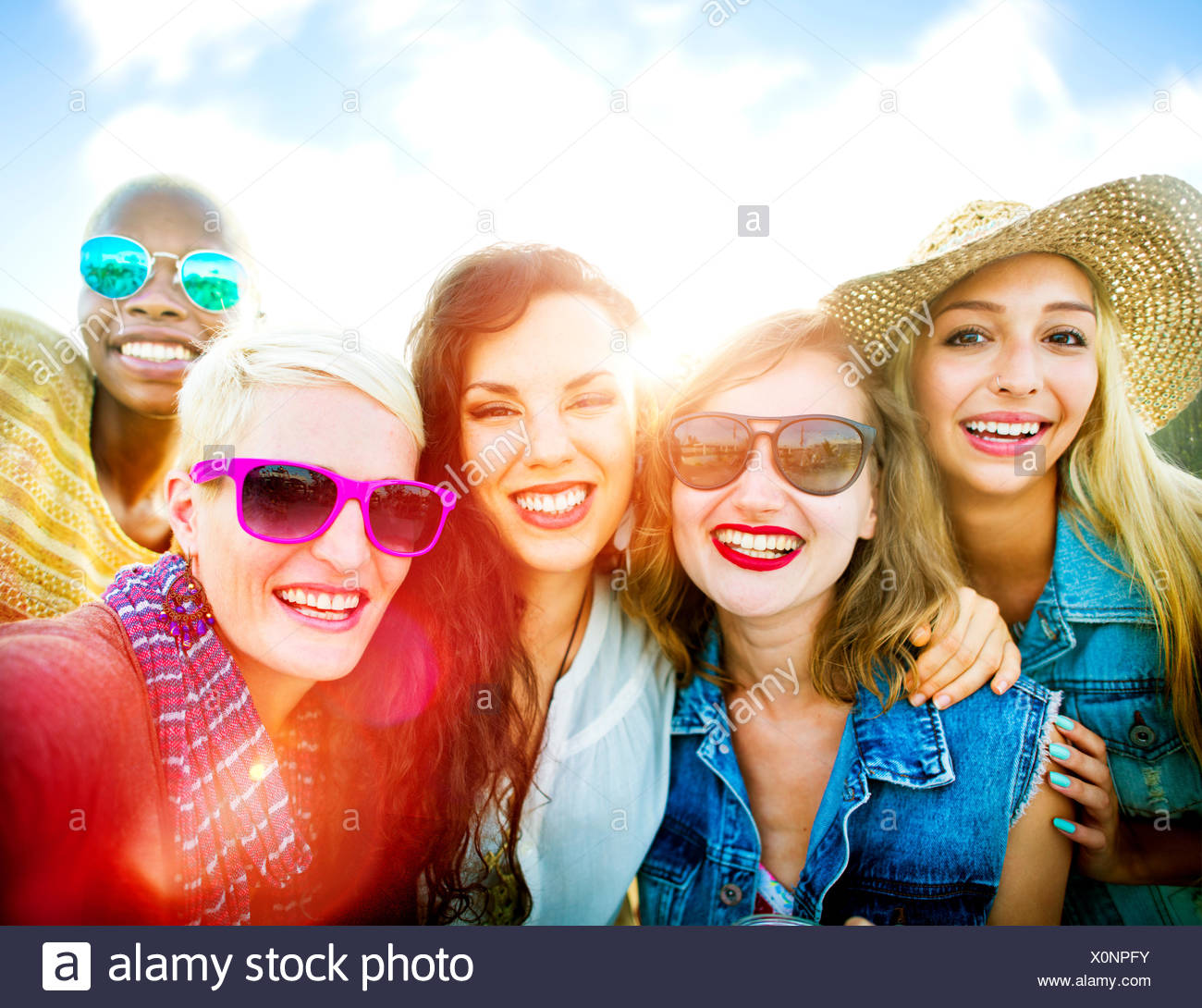 Girlfriends Friendship Party Happiness Summer Concept - Stock Image