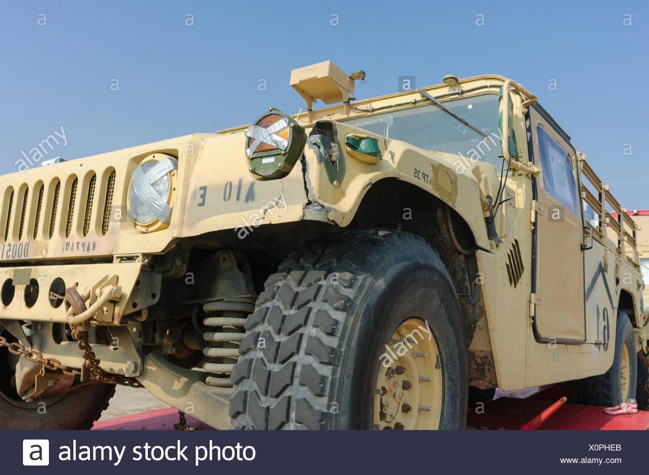 Military car. Stock Photo