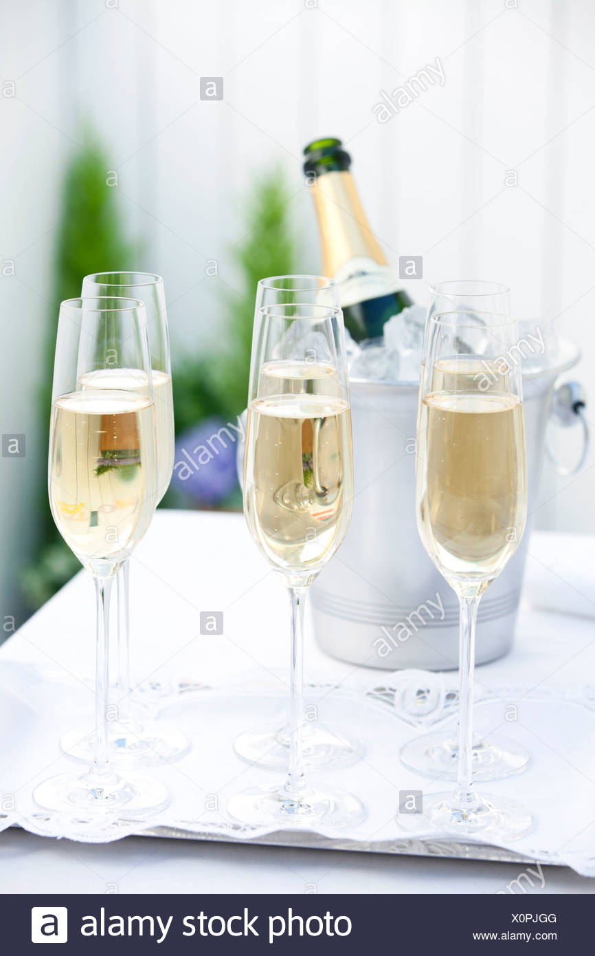 wine glasses on tray stock photos wine glasses on tray stock images alamy. Black Bedroom Furniture Sets. Home Design Ideas