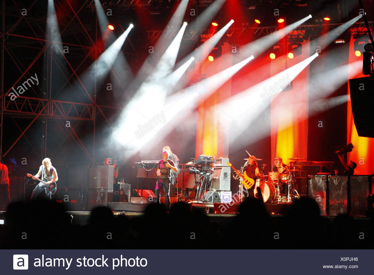 Deep Purple, English rock band, Open Air Festival, Muehldorf am Inn, Bavaria, Germany Stock Photo