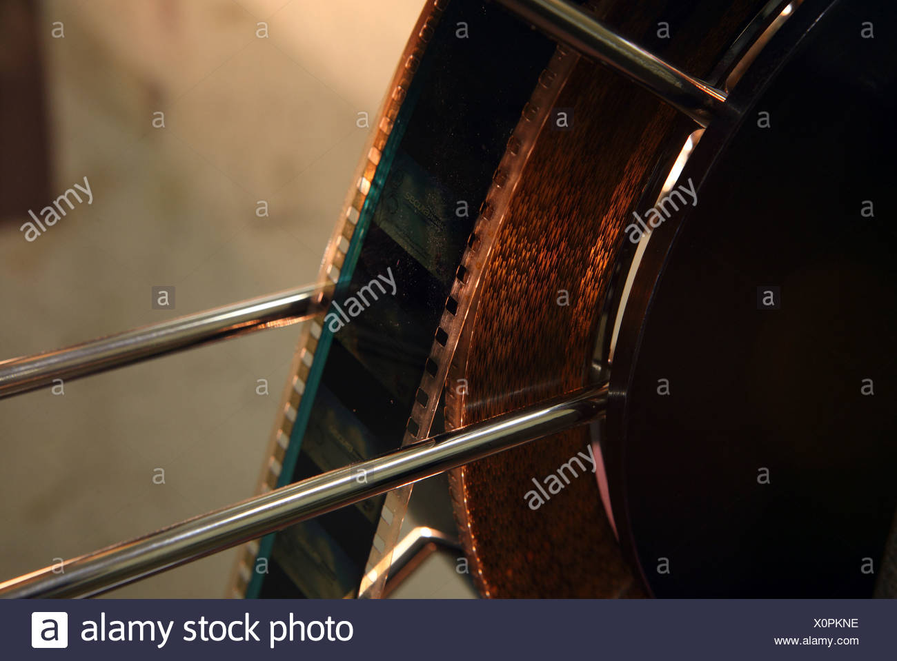 Berlin, Germany, on a roll of film coil - Stock Image