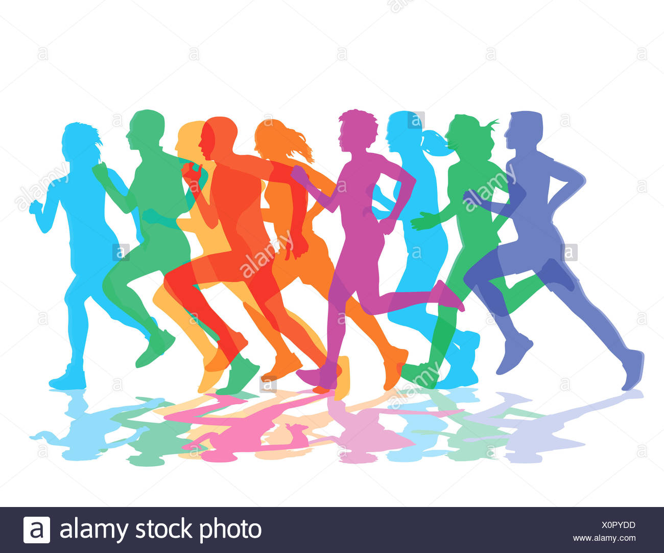 A group of runners - Stock Image