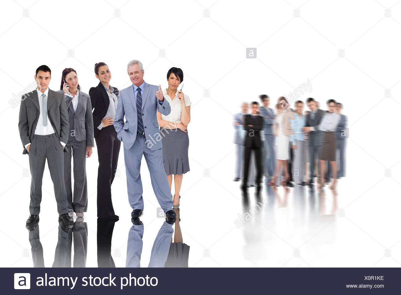 Composite image of business people - Stock Image