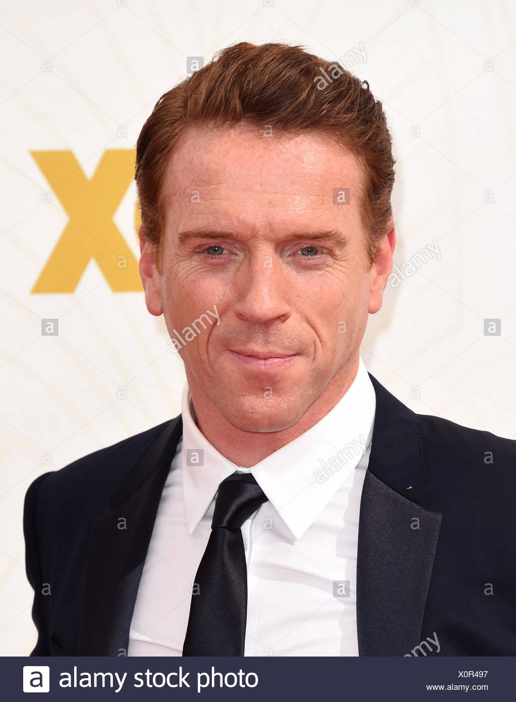 Actor Damian Lewis attends the 67th Annual Primetime Emmy Awards at Microsoft Theater on September 20, 2015 in Los Angeles, California., Additional-Rights-Clearances-NA - Stock Image
