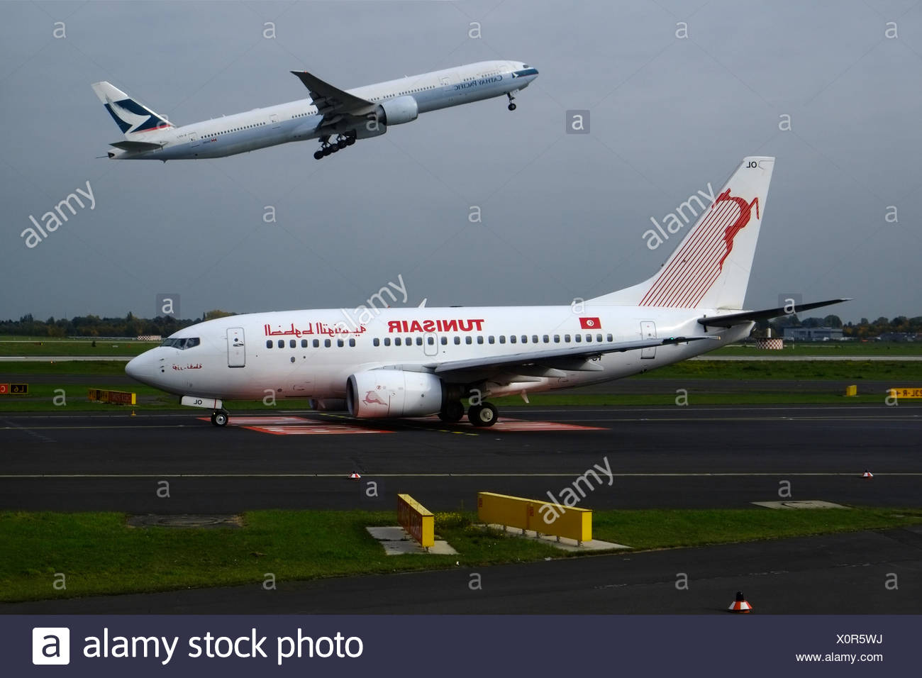Two airliners - Stock Image