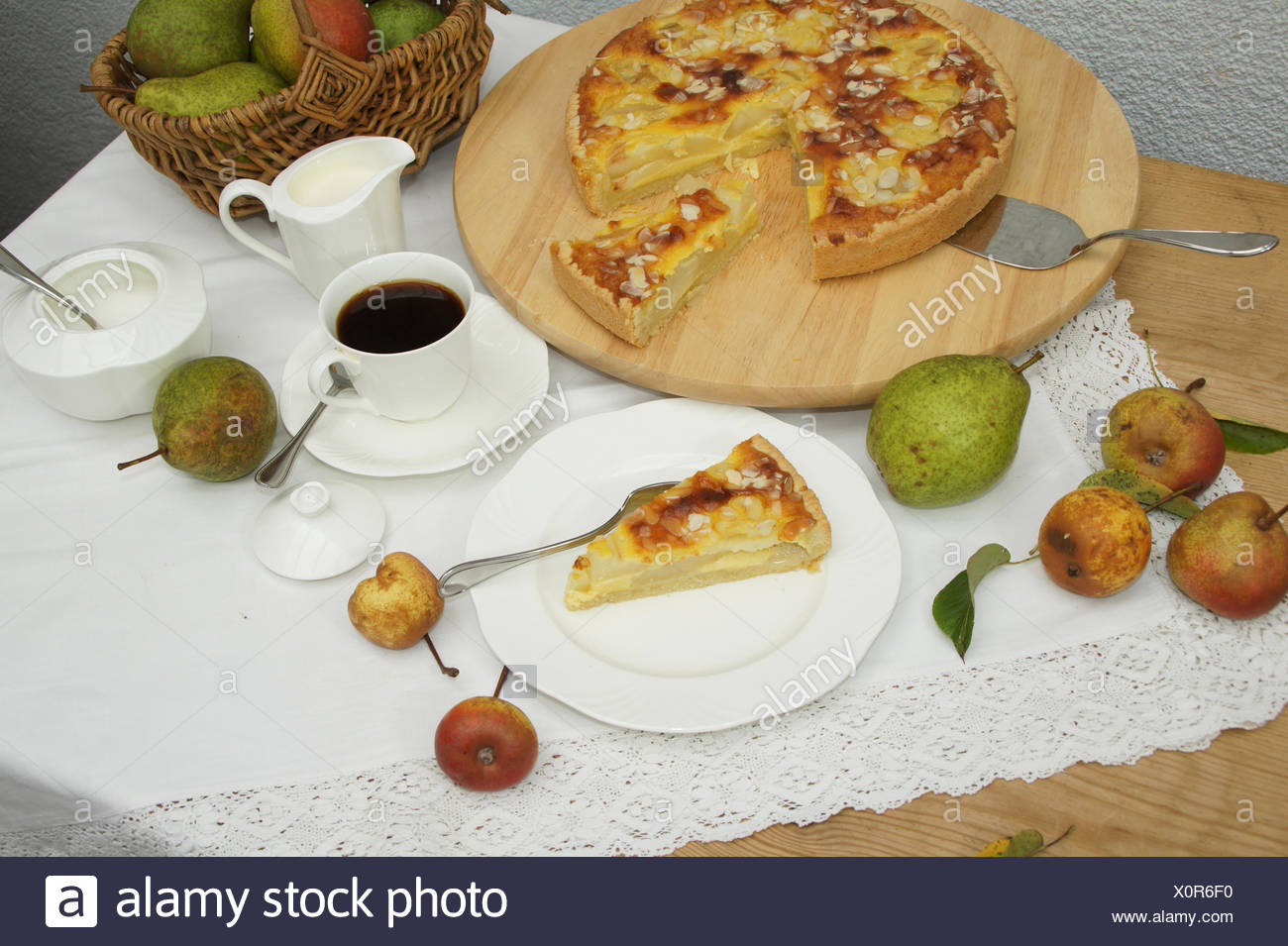 Pear cake - Stock Image