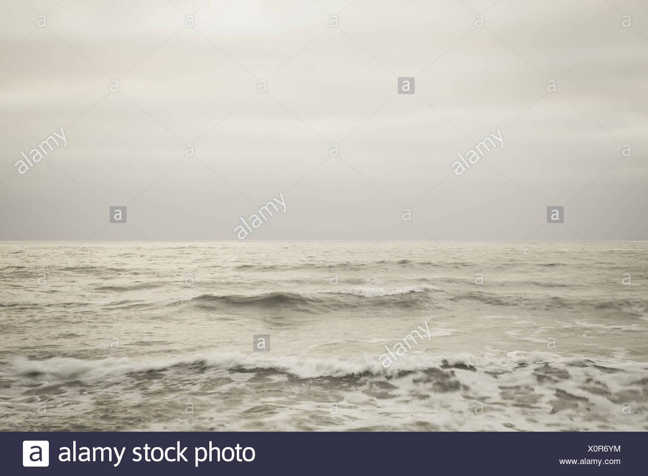Olympic National Park Washington USA. Seascape dusk Pacific coastline of Washington USA - Stock Image