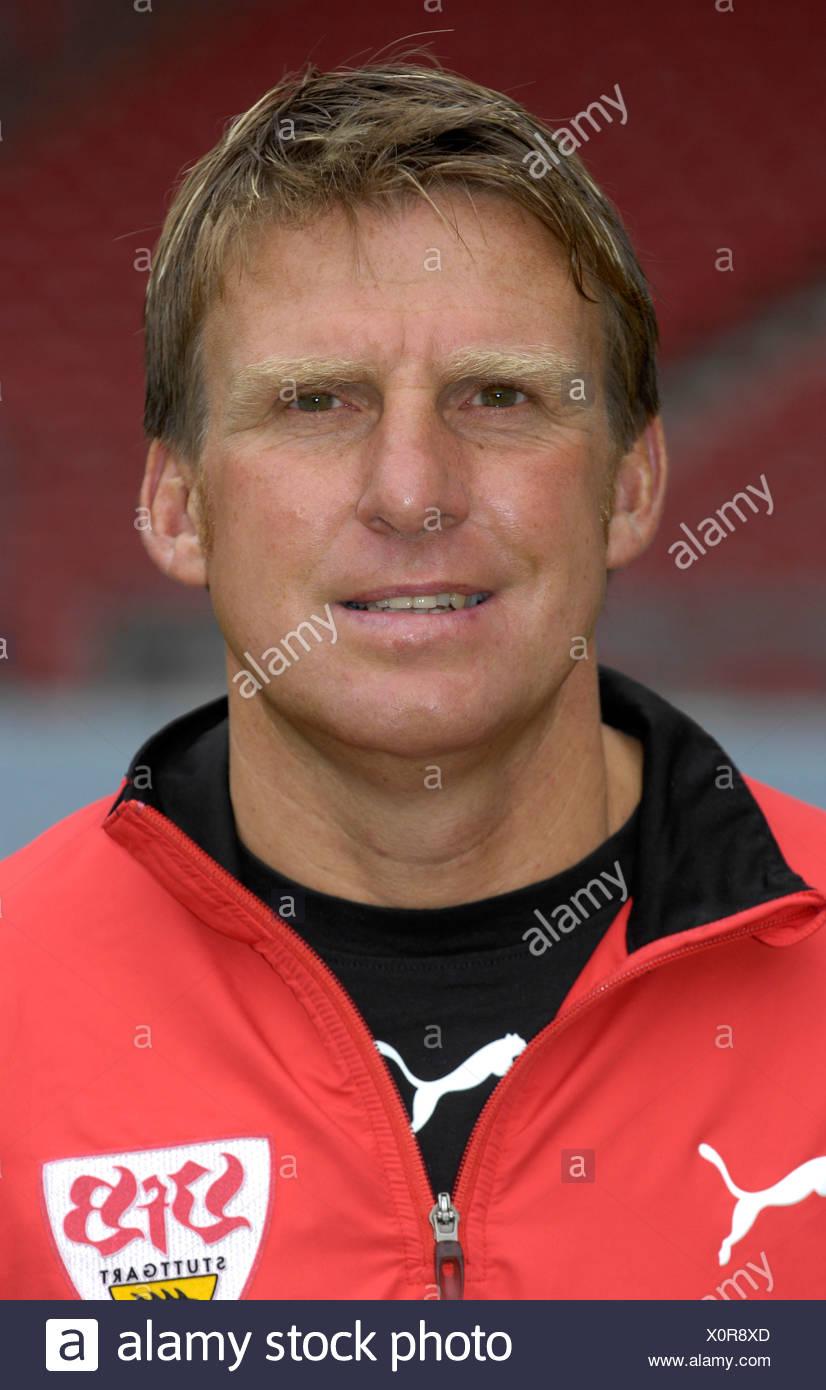 Assistant coach Alfons HIGL VfB Stuttgart - Stock Image