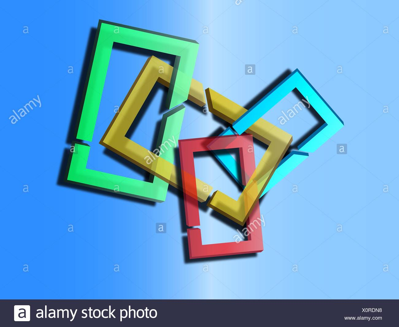 2d abstract illustration - Stock Image