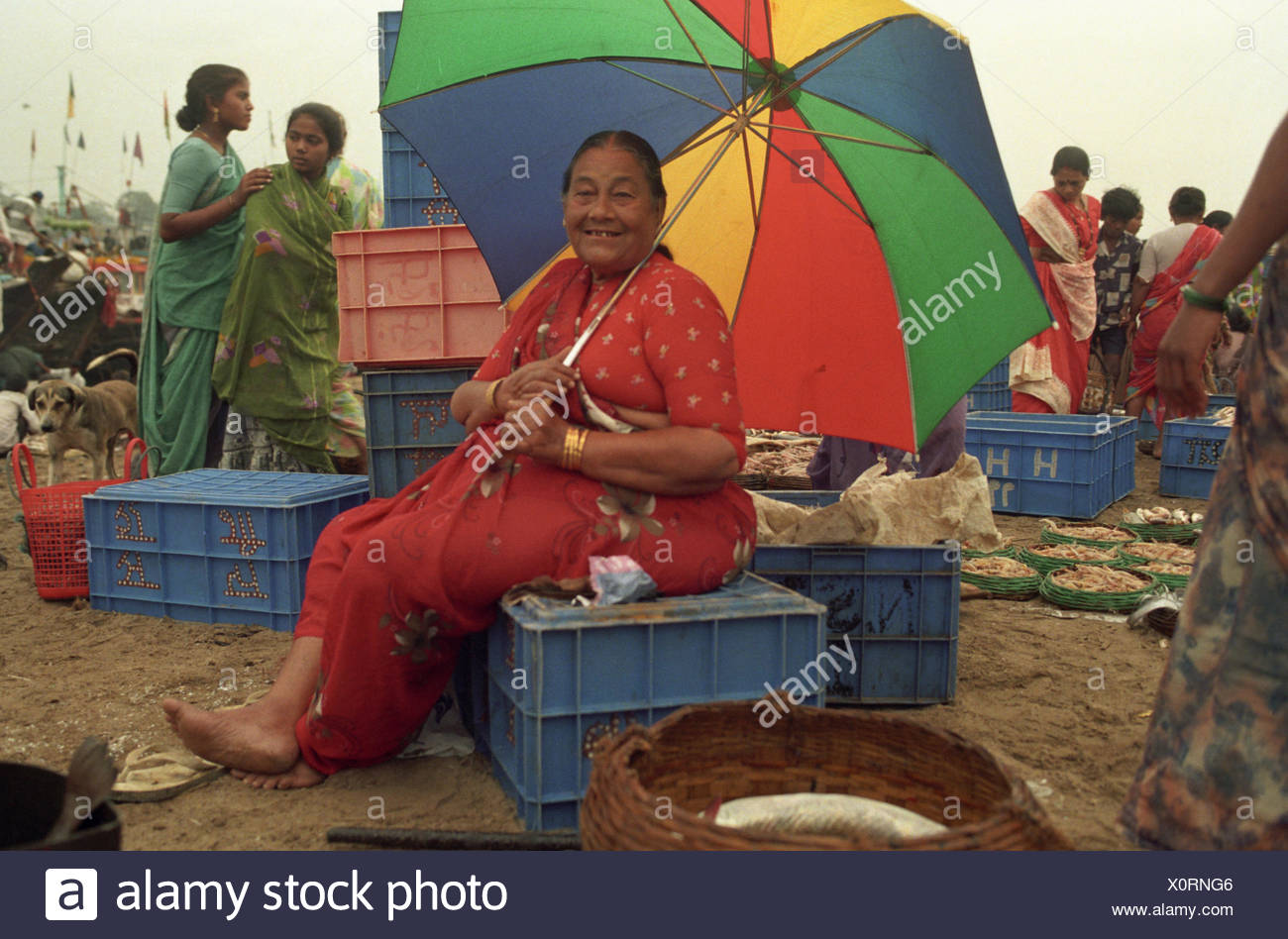 Fisher woman - Stock Image