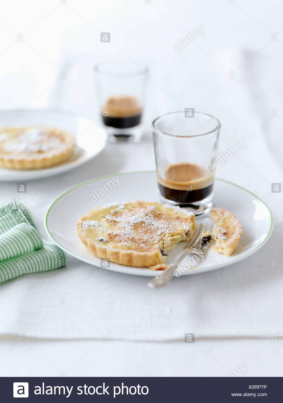 Tea-flavored tartlet - Stock Image
