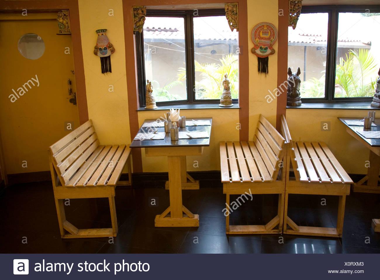 Kerala style restaurant ; Calcutta now Kolkata ; West Bengal ; India - Stock Image