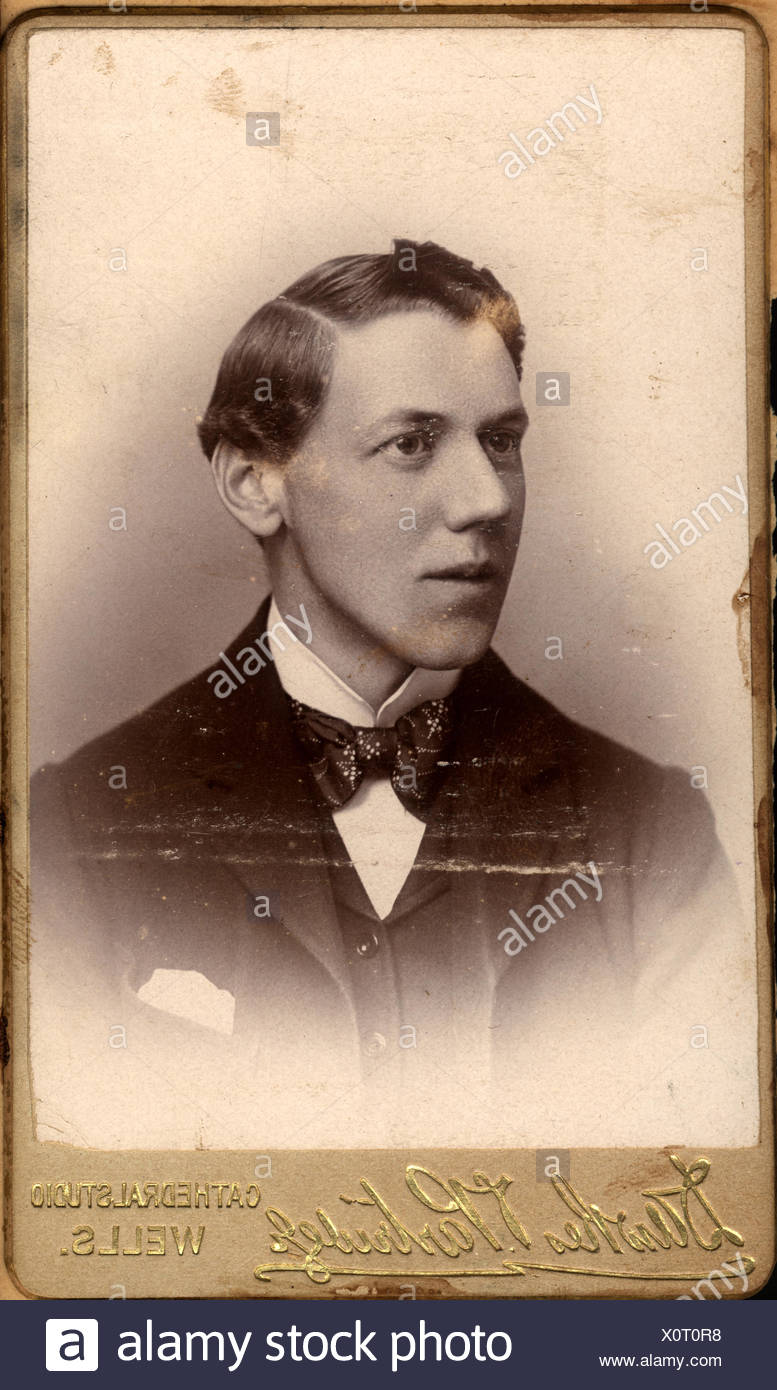 Portrait of an englishman during British Raj - Stock Image