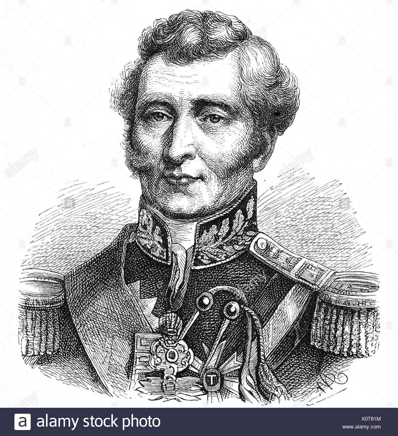 Wellington, Arthur Wellesley Duke of, 1.5.1769 - 14.9.1852, British General and politician, portrait, engraving, 19th century, Additional-Rights-Clearances-NA - Stock Image