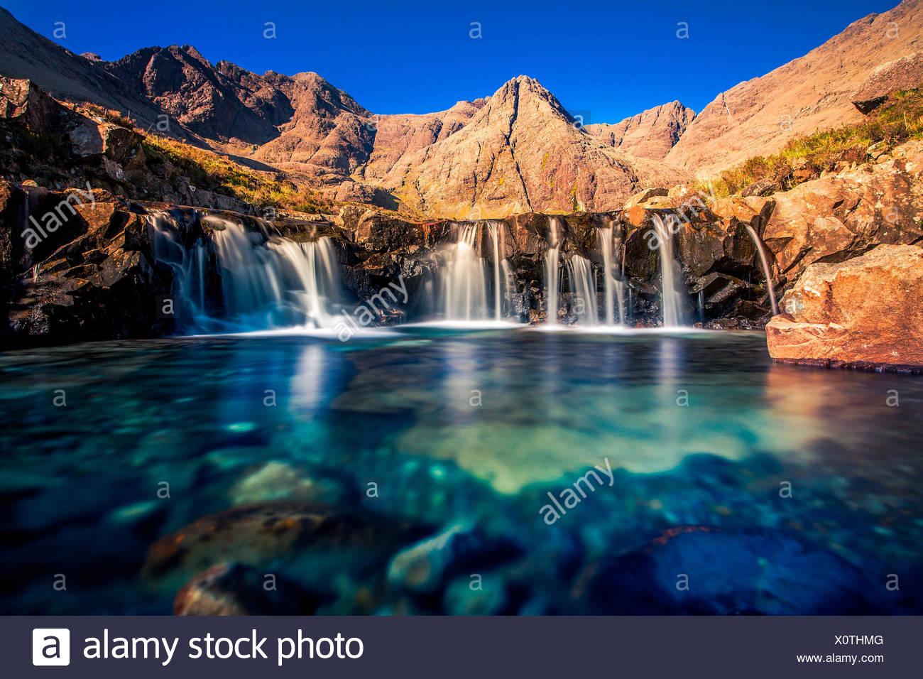 The Fairy Pools, Glen Brittle, Skye, Scotland - Stock Image
