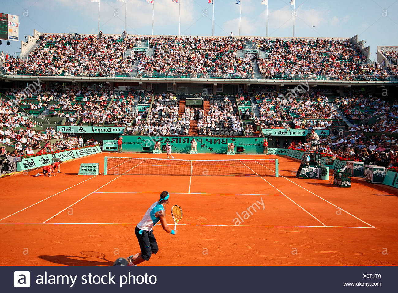 France, Paris, Tennis French Open Stock Photo