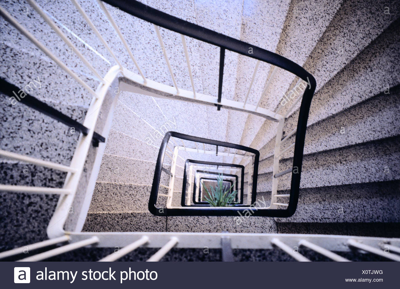 Stairwell View Down Narrow Staircase House Stairs Steps