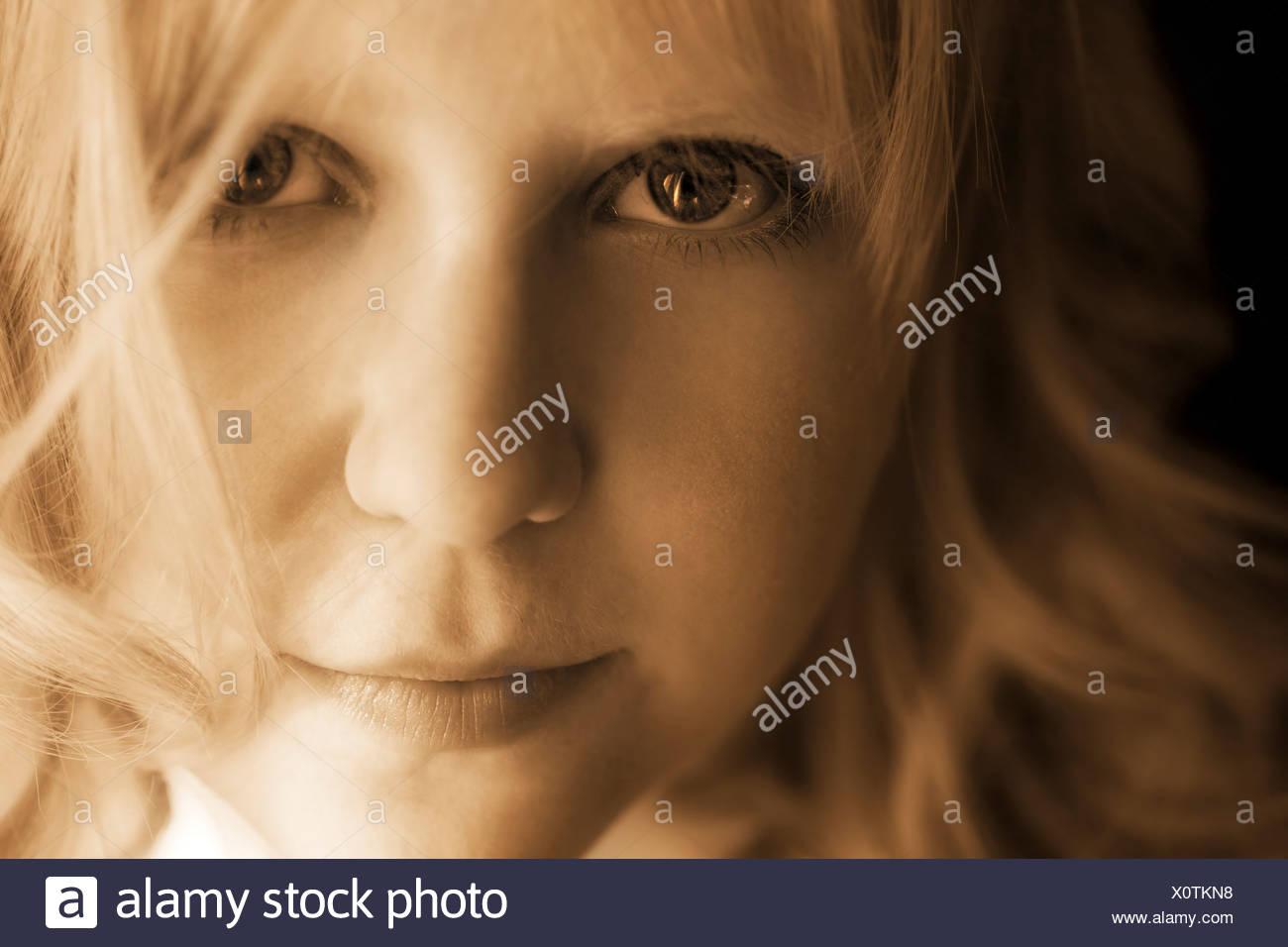 Female portrait - Stock Image