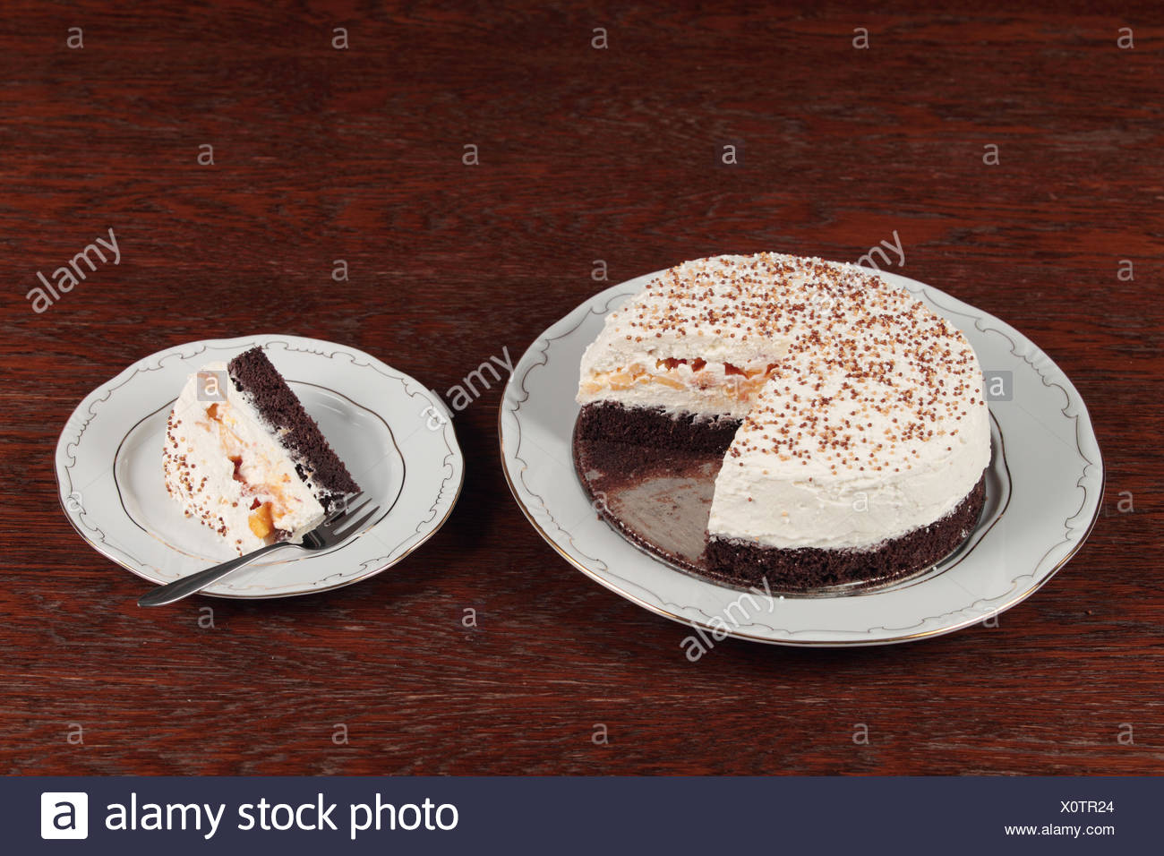 A delicious cake, safe for sufferers of diabetes mellitus type 1, created by a woman who also suffers. - Stock Image