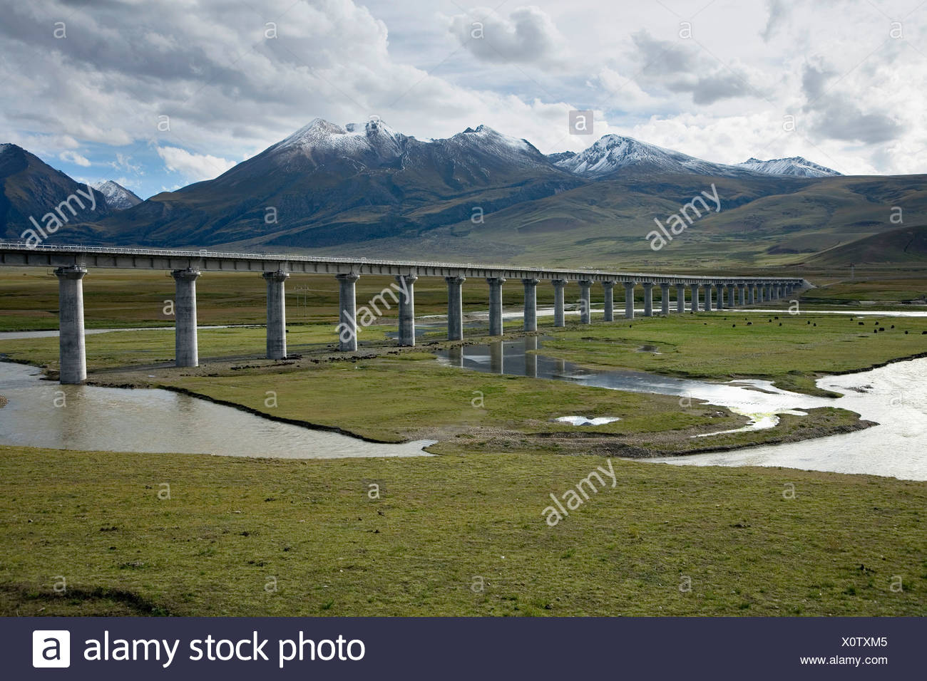 Qinghai-Tibet Railway Stock Photo