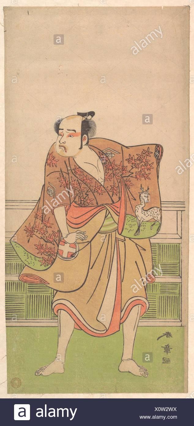 Otani Hiroemon in the role of Gokumon no Shobei. Artist: Katsukawa Shunsho (Japanese, 1726-1792); Period: Edo period (1615-1868); Date: 9th month, - Stock Image