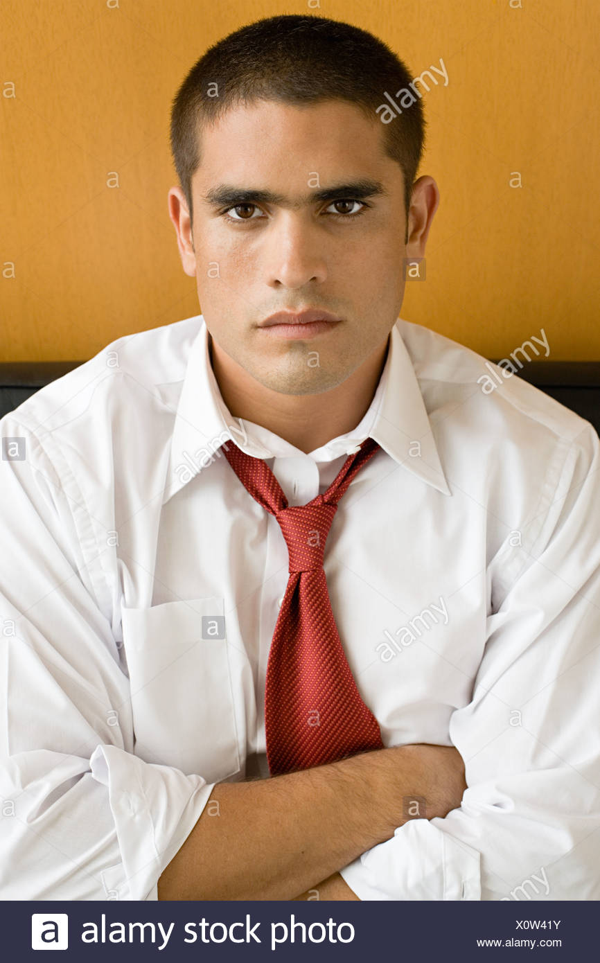 Sullen office worker - Stock Image