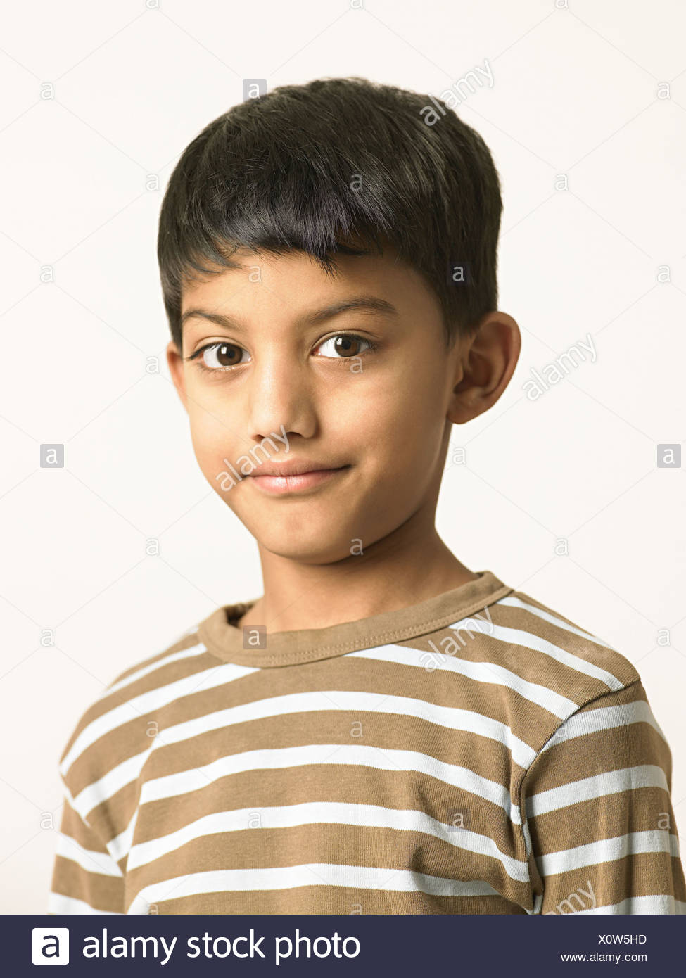 Portrait of an indian boy - Stock Image