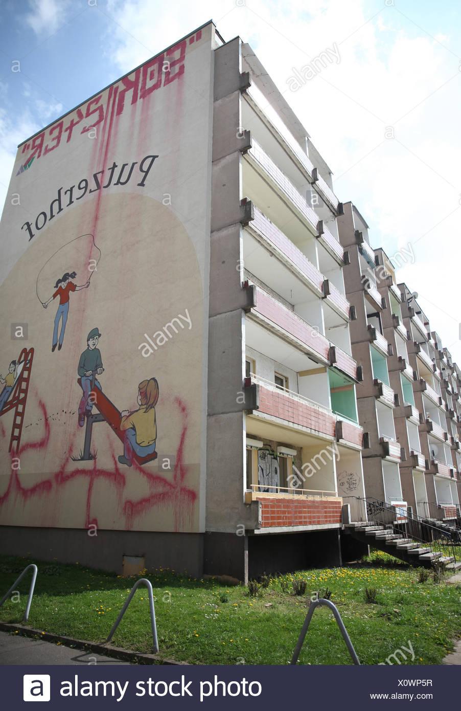 Refugee shelter in Magdeburg - Stock Image