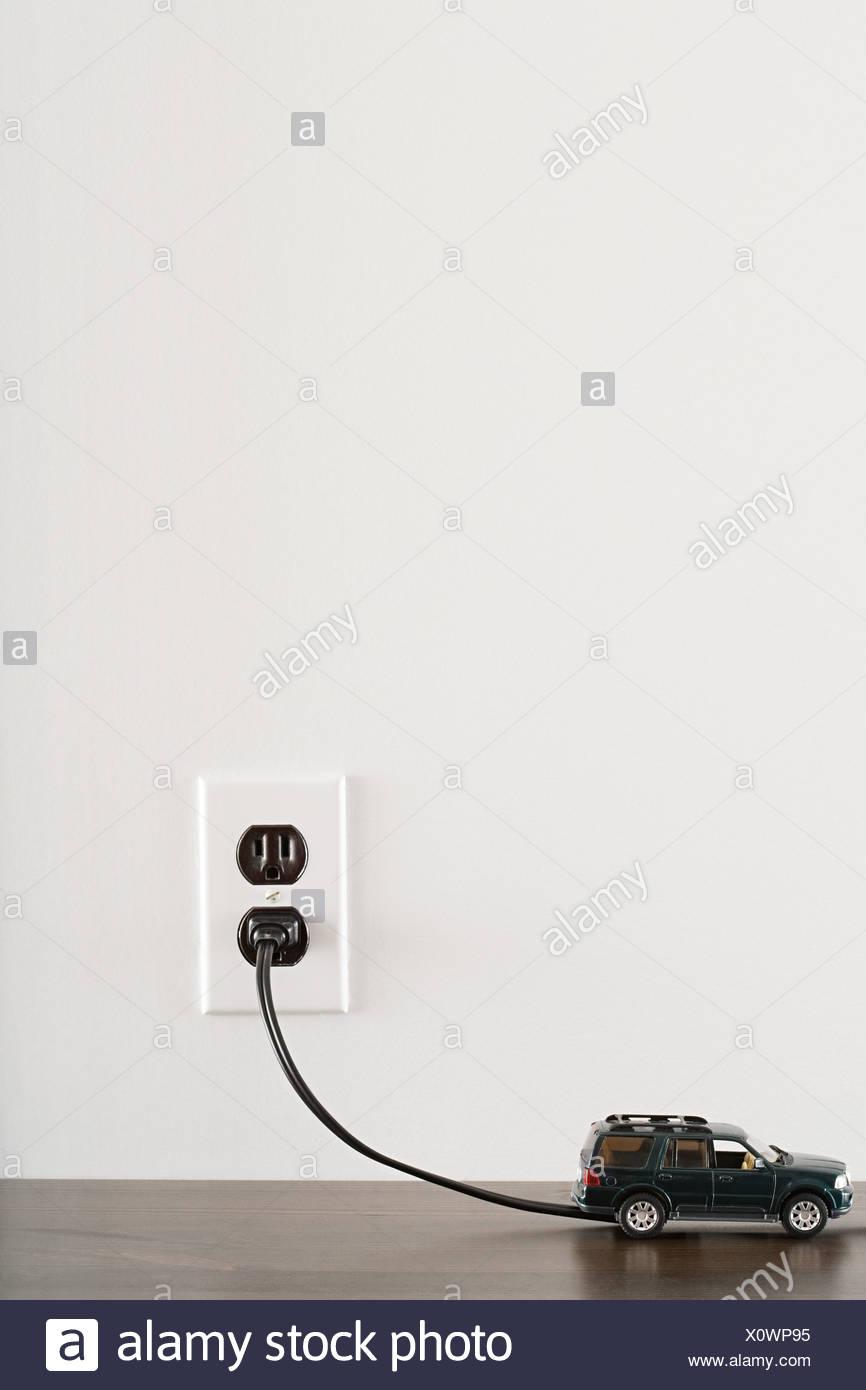 Electric car - Stock Image