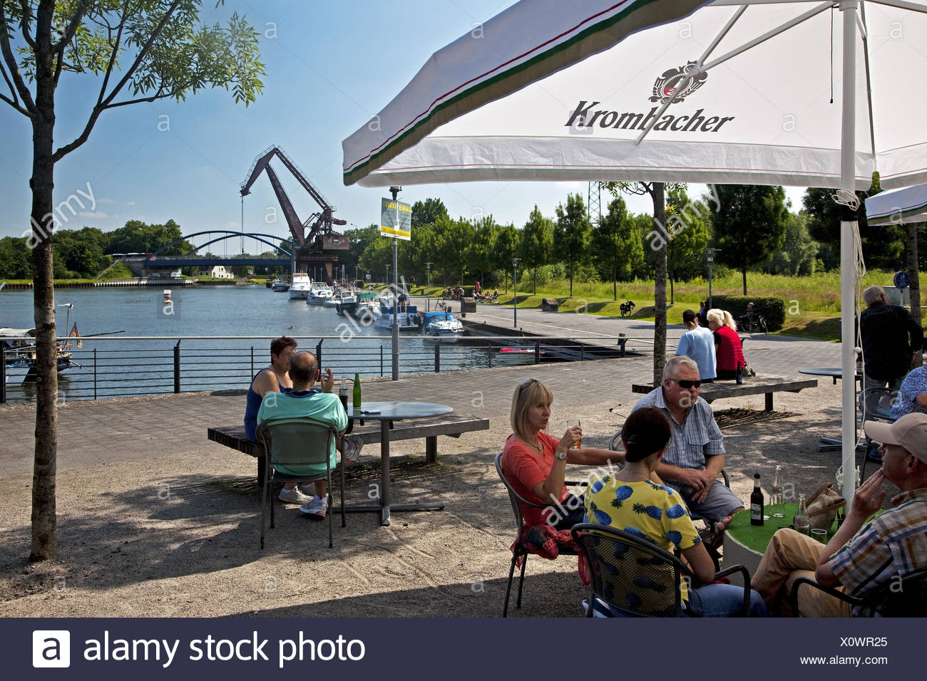 Prussia harbor, Lunen, Germany - Stock Image
