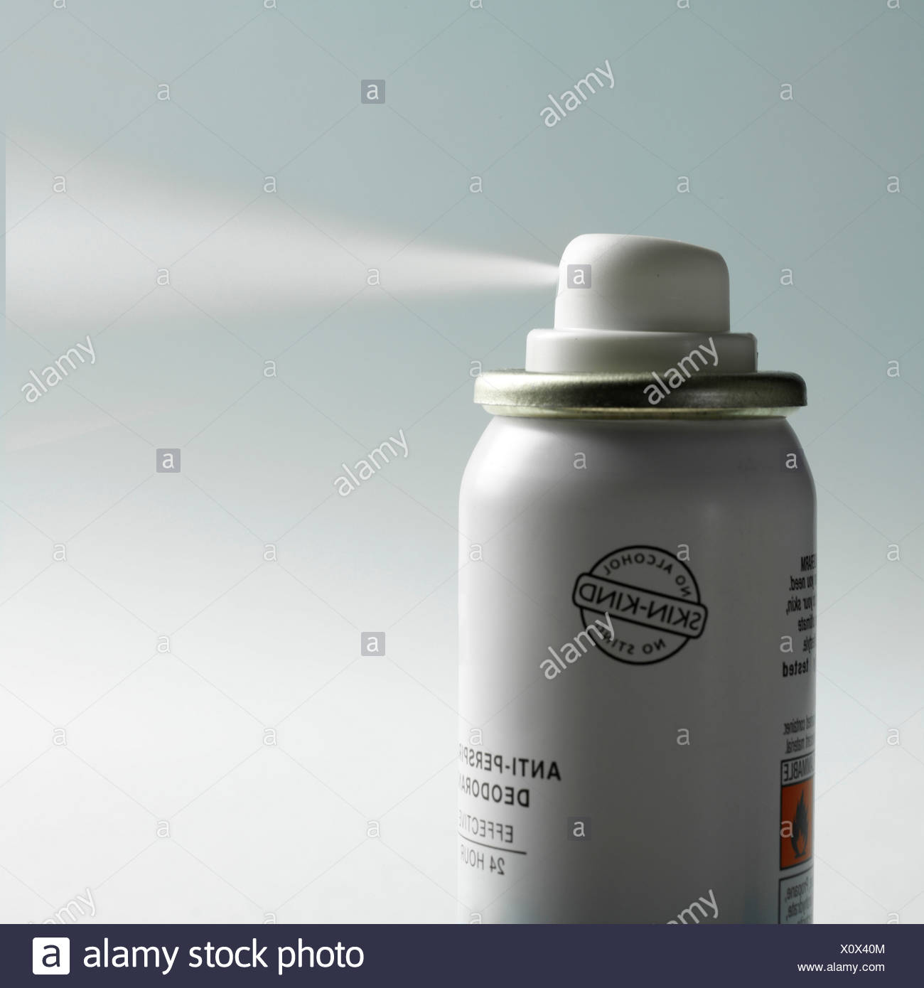 Antiperspirant deodorant spray - Stock Image