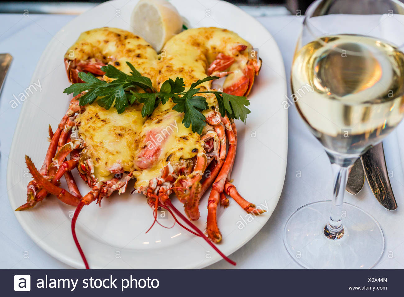 Lobster Thermidor Stock Photos & Lobster Thermidor Stock ...