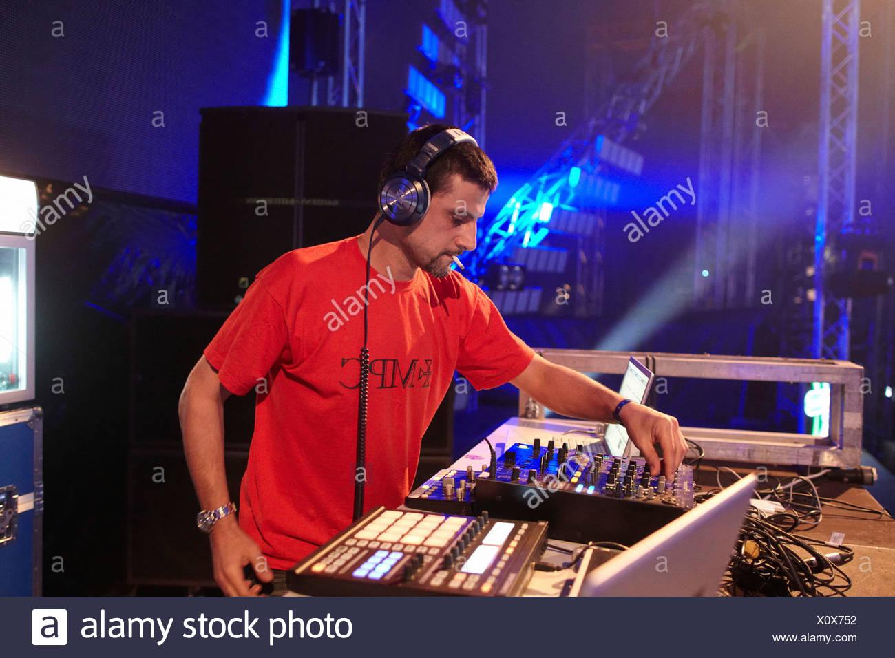 Dave Clarke, Nature One 2010 electronic music festival, Kastellaun, Rhineland-Palatinate, Germany, Europe - Stock Image