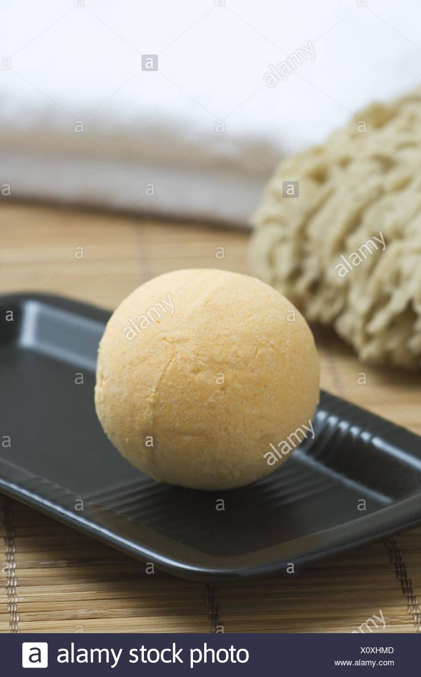 Nature fungus, towel, soap peel, bath bomb, detail, - Stock Image