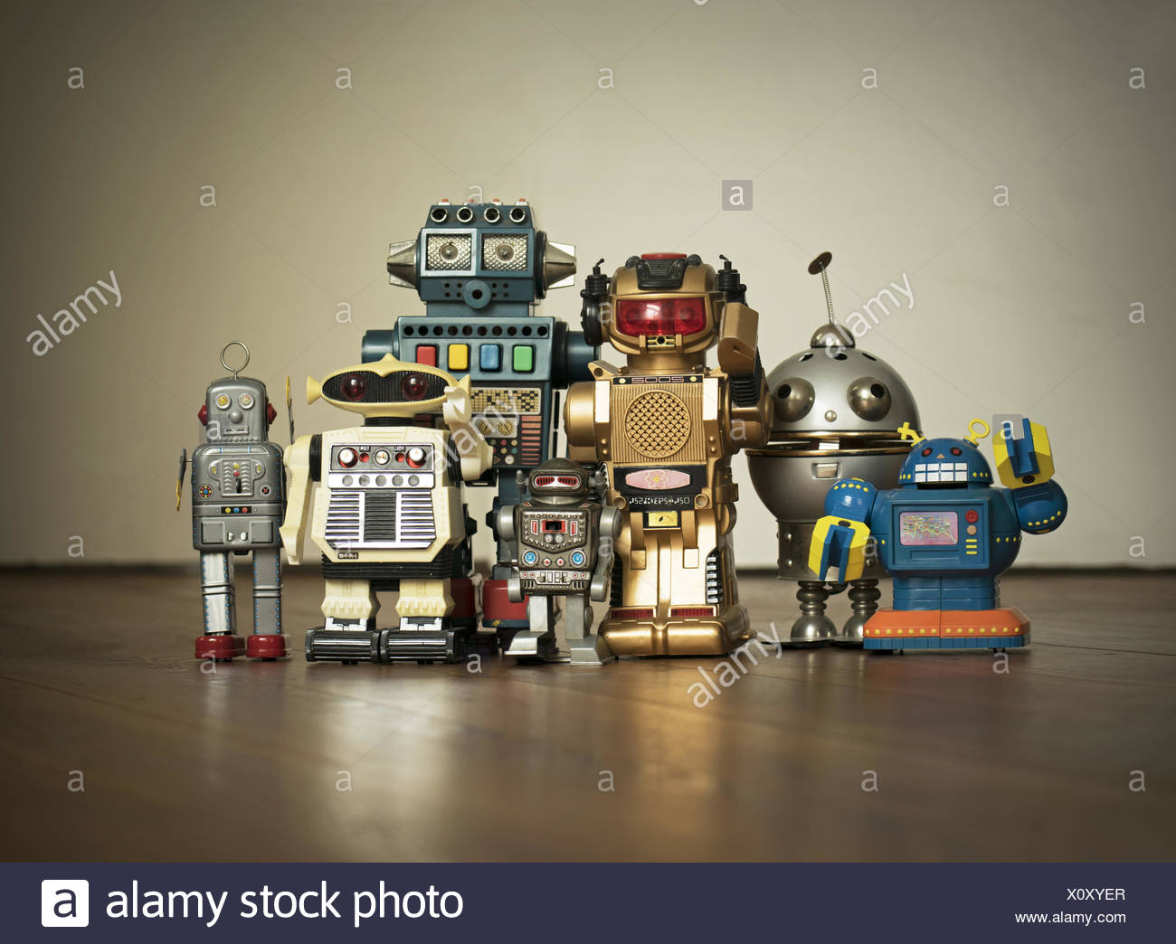 robot family pic - Stock Image
