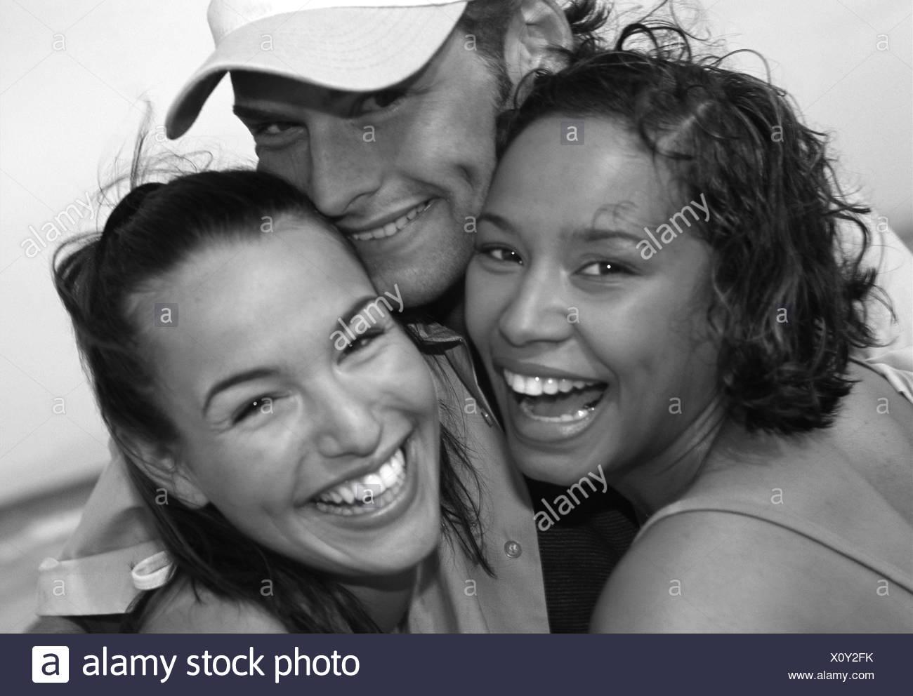 Three friends - Stock Image