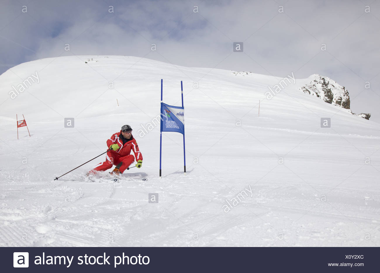 Skiing Stock Photo