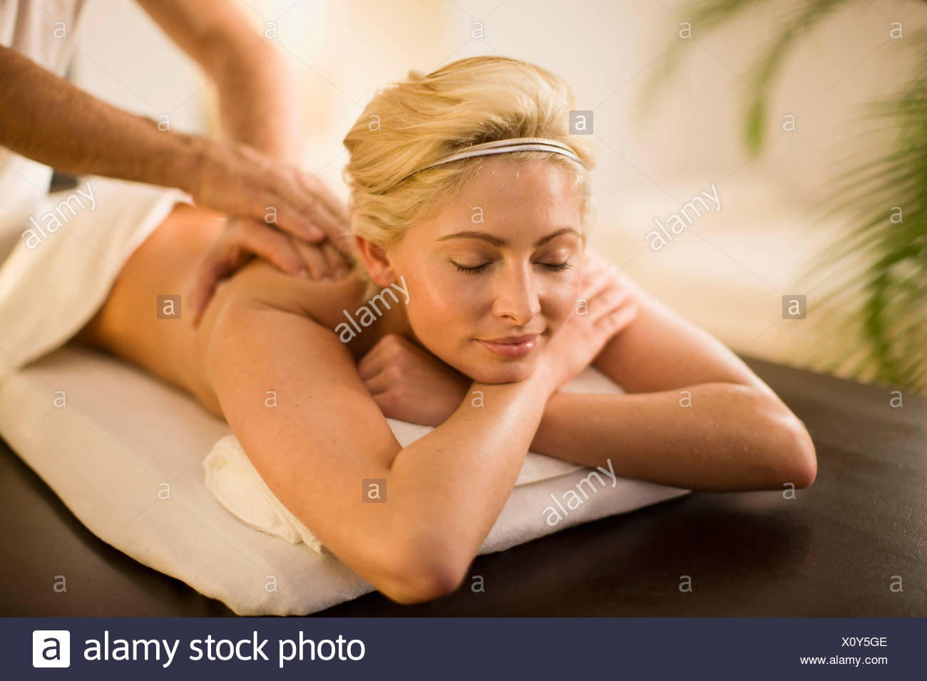 a day in a wellness spa Stock Photo