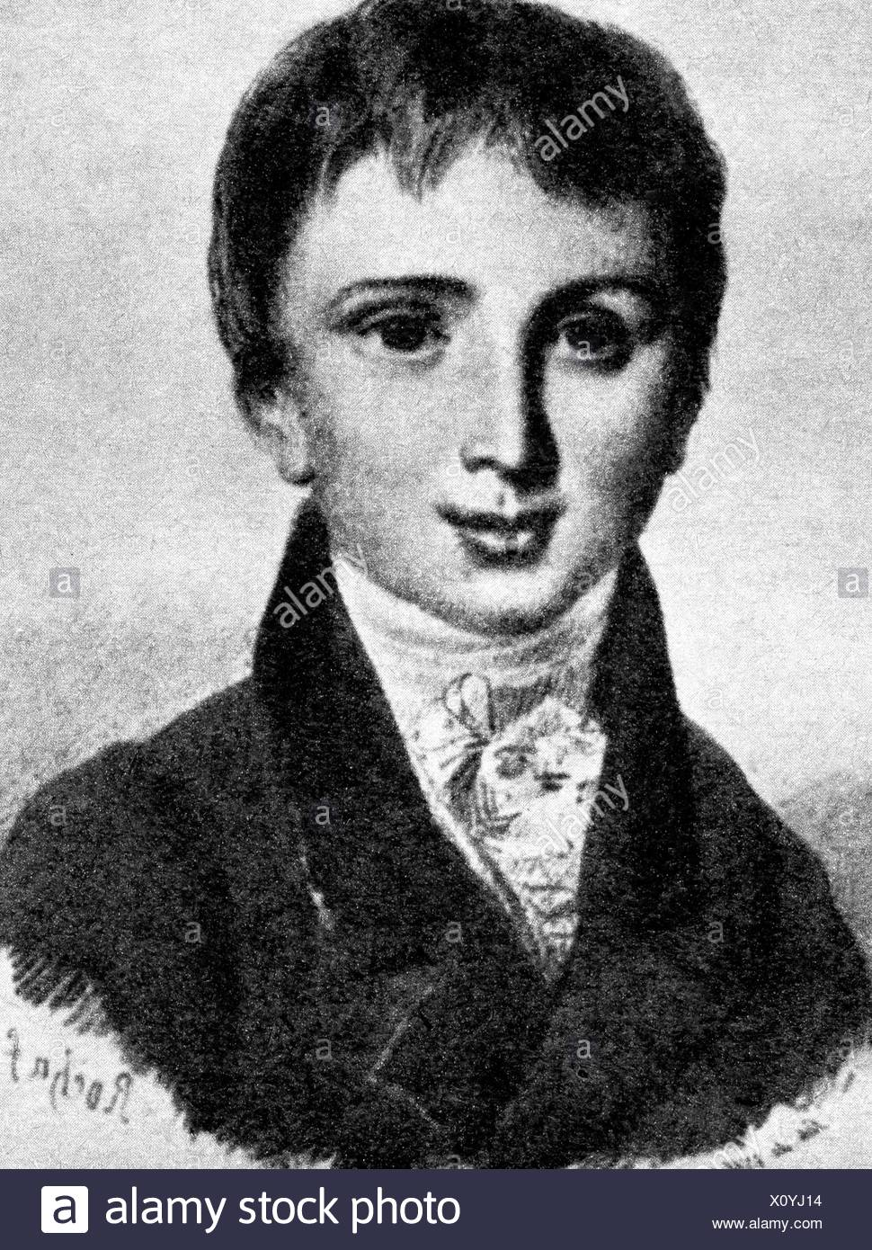 Liszt, Franz, 22.10.1811 - 31.7.1886, Hungarian composer and pianist, as child, eleven years old, 1823, , Additional-Rights-Clearances-NA - Stock Image