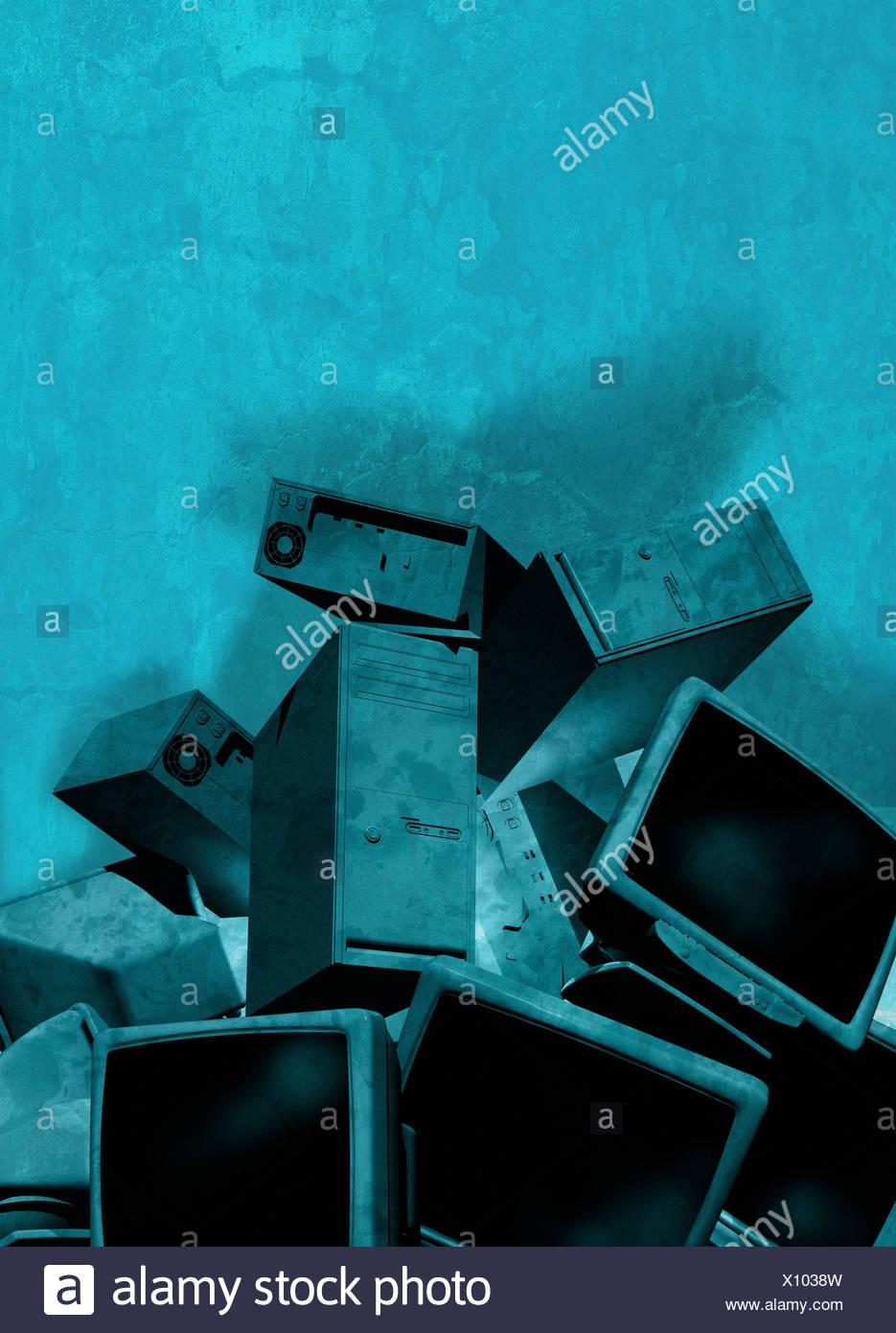 Obsolete technology, artwork - Stock Image