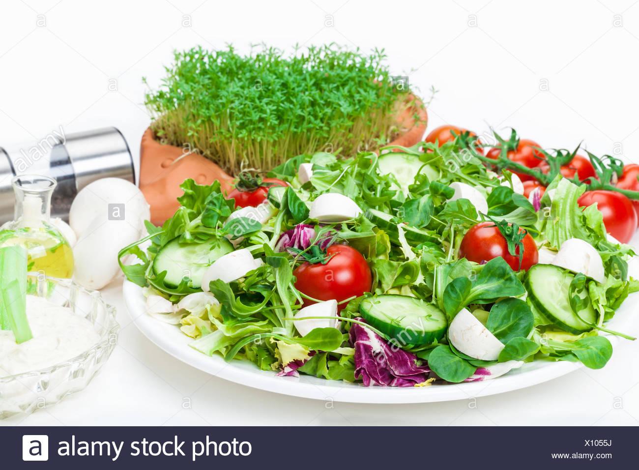 Salad plate - Stock Image