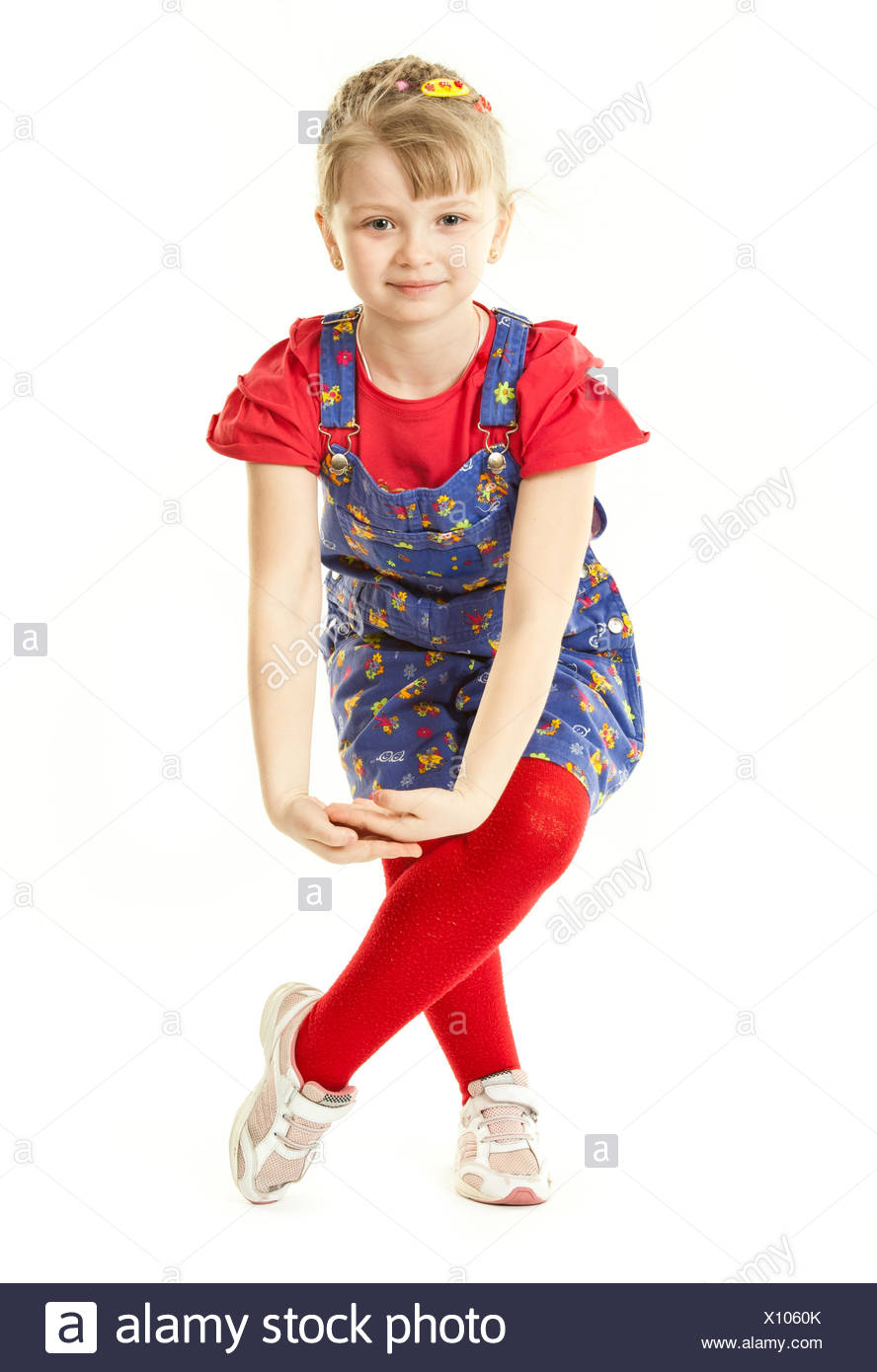 A girl makes curts - Stock Image